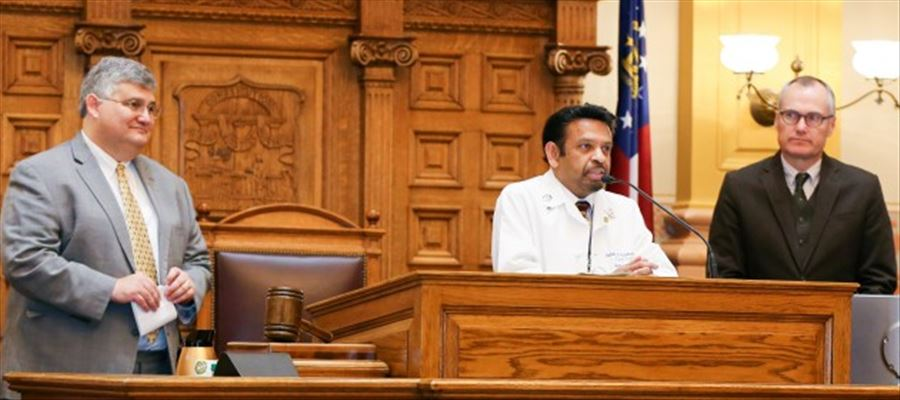 Another feather in Dr. Indran Indrakrishnan's Cap in Georgia Senate Resolution