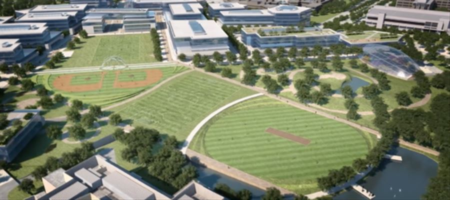 Microsoft campus to surprise employees with a Cricketing Field