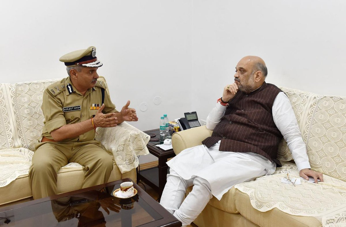 DG ITBP SS Deswal Called On Union Home Minister Amit Shan