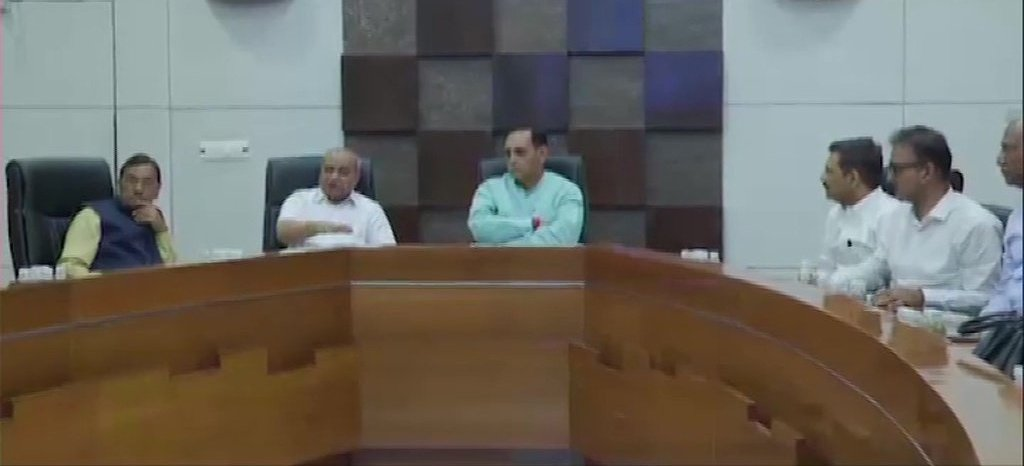 Gujarat CM Vijay Rupani Holds A Special Meeting With Officers On Cyclone Vayu