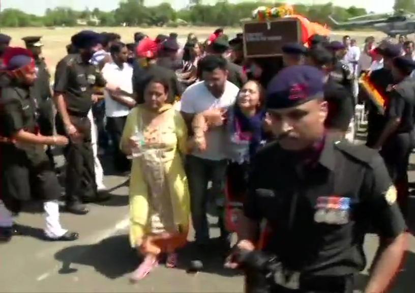 Last Rites Of Army Major Ketan Sharma Who Lost His Life In Anantnag Encounter