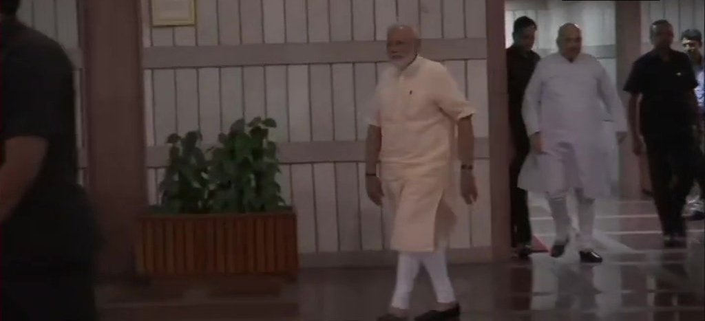 PM Modi And His Ministers Leave After Attending The NDA Meetinf