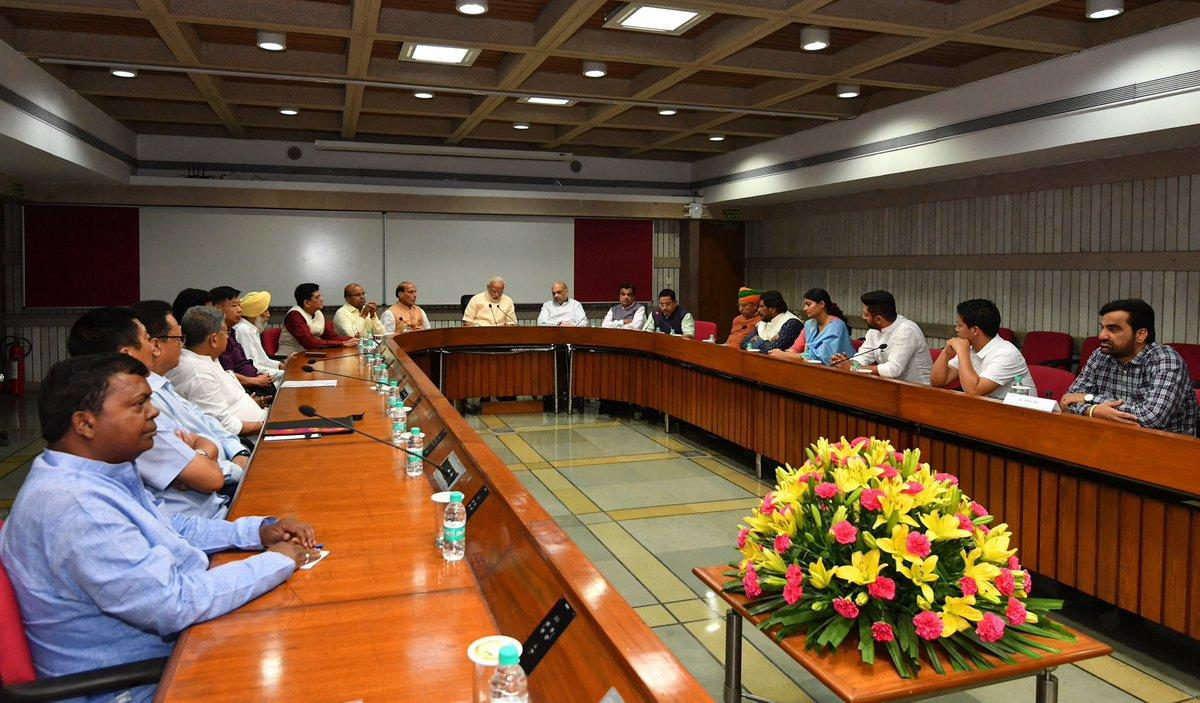 PM Modi With Other leaders At The NDA Meeting