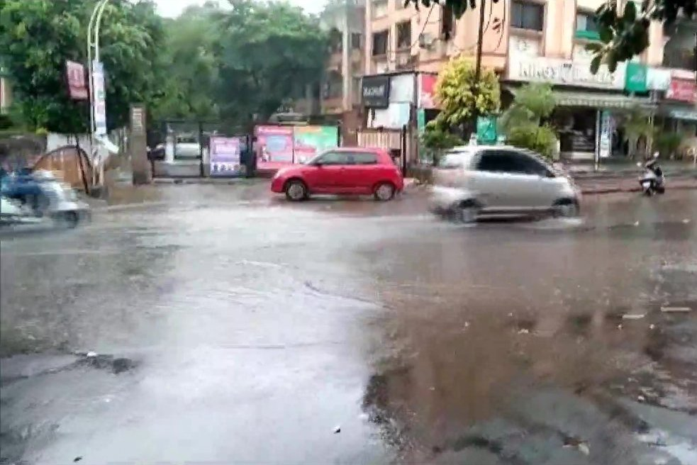 Rain Lashes Parts Of The City In Pune