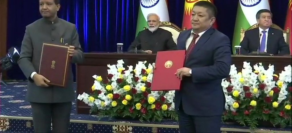 Signing Of Agreements Between India And Kyrgyzstan In The Presence Of PM Modi