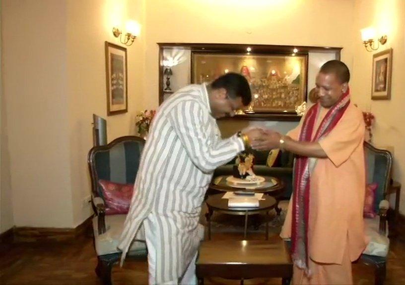 UP CM Yogi Adityanath Meets Union Minister Dharmendra Pradhan