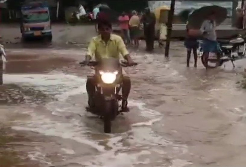 Water Floods Streets And Enters Houses In Peddapuram Town In Andhra