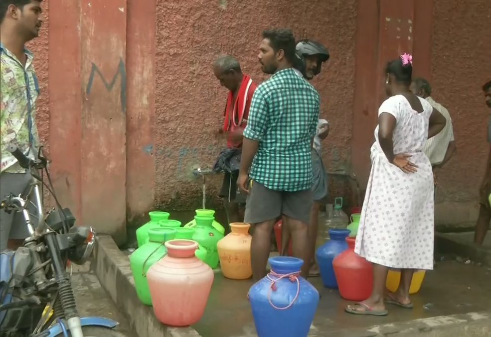 Water Scarcity Still Troubles Chennai Resident