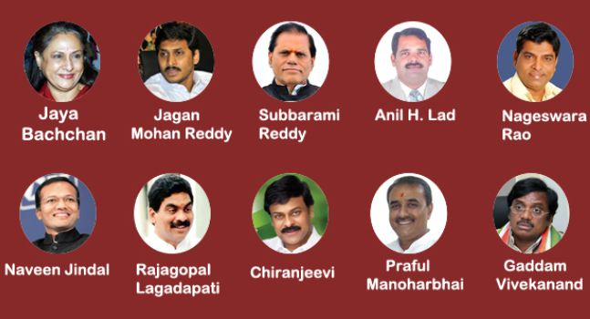 Andhra Pradesh has 6 out of top 10 richest MPs.