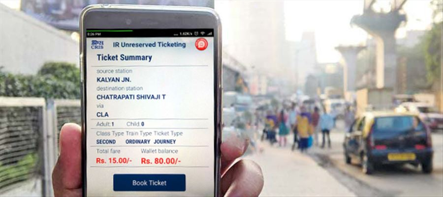 Railways launch Mobile App to book & cancel unreserved tickets