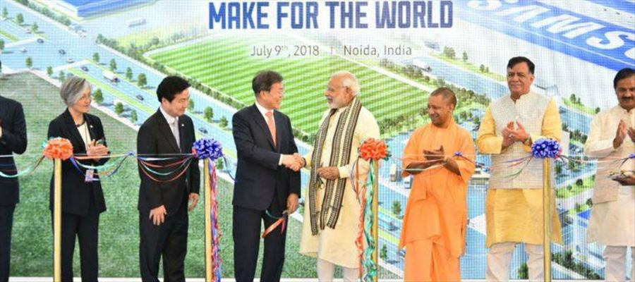 PM Modi launched World's biggest Mobile Factory at Noida