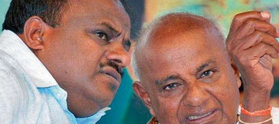 JD(S) patriarch Deve Gowda clarified that his son's government is stable