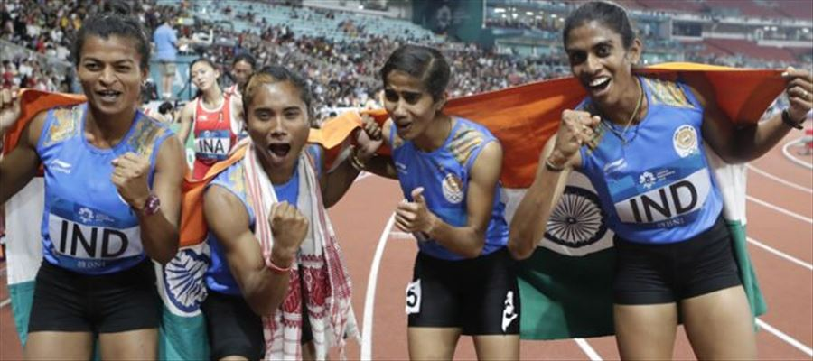 India's 13th Gold in relay race!