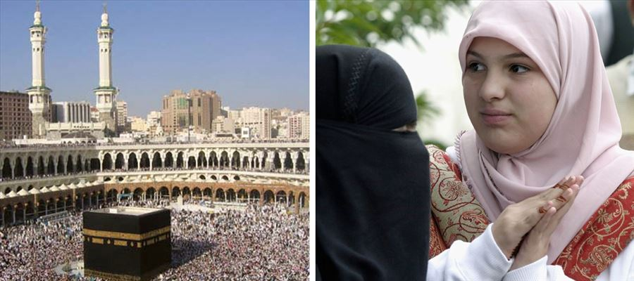 Muslim women from all across the world being assaulted & harassed during Hajj
