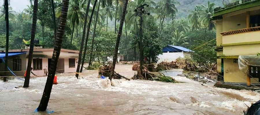 Third red alert issued to people living downstream in Kerala