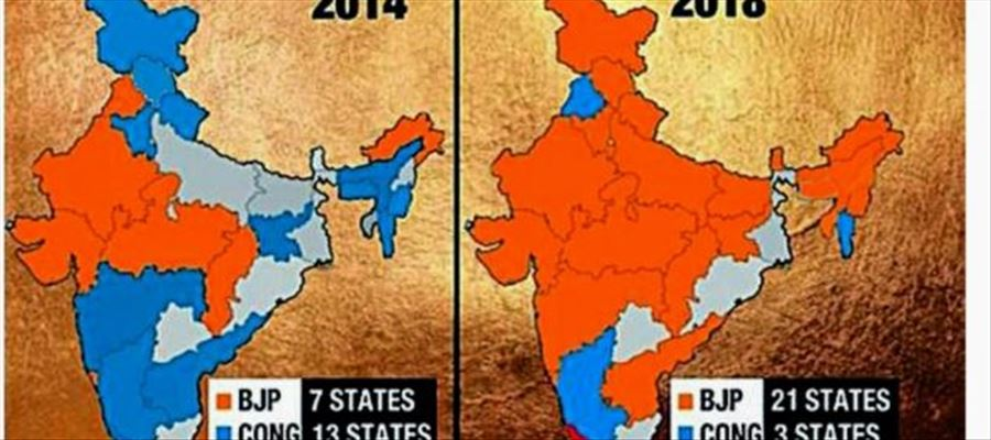 Wow! BJP still standing at large distance to have Saffron Bharat