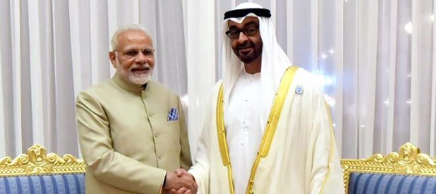 PM Narendra Modi signed five agreements with Abu Dhabi Mohamed bin Zayed Al Nahyan