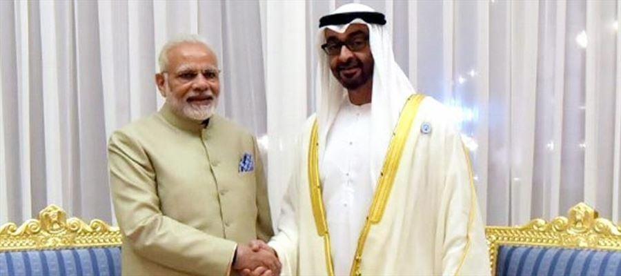 PM Narendra Modi signed five agreements with Abu Dhabi Mohamed bin Zayed Al Nahyan