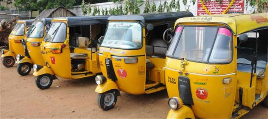 Police noticed six speeding auto-rickshaws, tried to stop but in vain