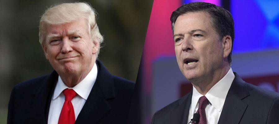 "US President slammed former FBI Director James Comey as a ""weak and untruthful slime ball"""