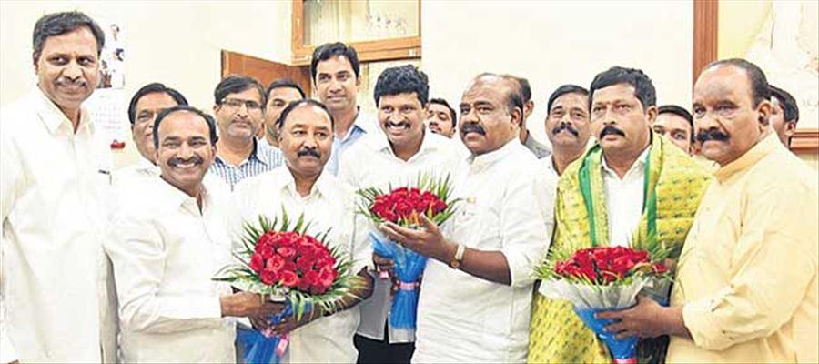 Telangana's ruling TRS bagged all three Rajya Sabha seats
