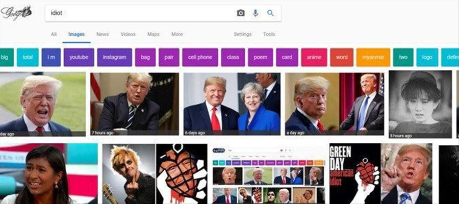 Google searches for word IDIOT related to Leaders