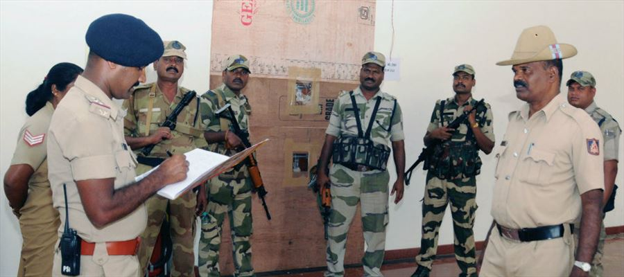 Security arrangements at Polling Booth in Telangana made tightly