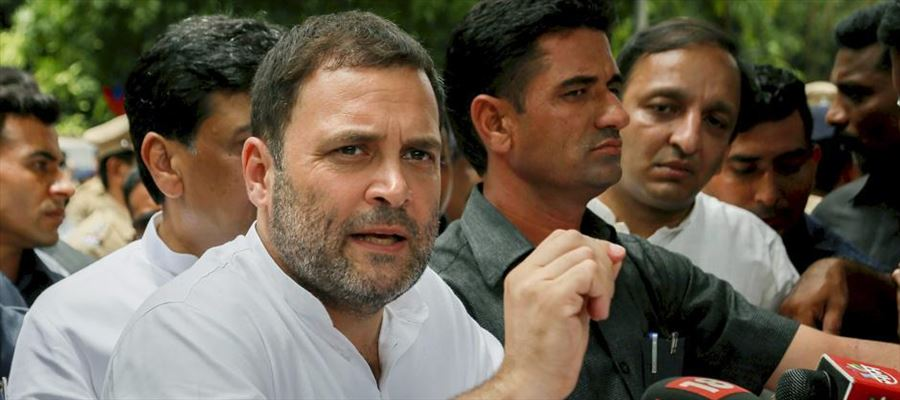 Rahul Gandhi said it is farmers who ensured 'Make in India'