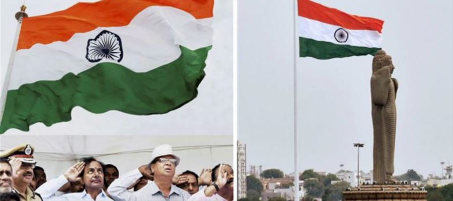 World's largest Indian Flag spread out in Telangana