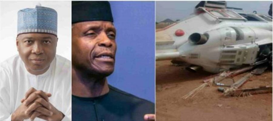 Nigerian VPs miraculous escape from Helicopter crash