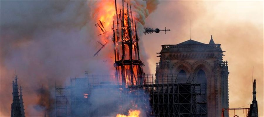 SHOCKING: Paris Notre Dame Cathedral burnt to ashes in an Hour