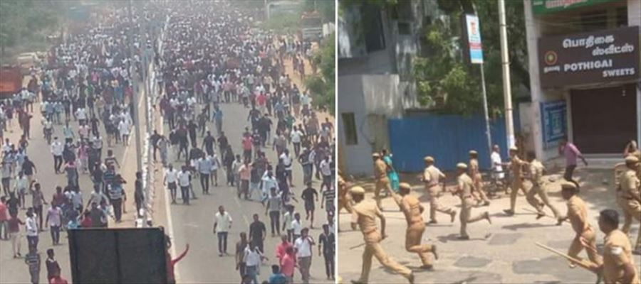 Anti Sterlite protest turned violent on 100th day