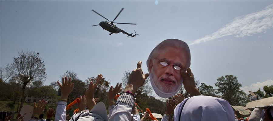 India's vast election fought in skies with private jets & Helicopters