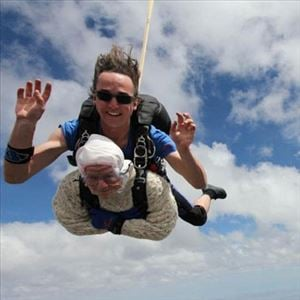 102 year old skydiver did it for helping many