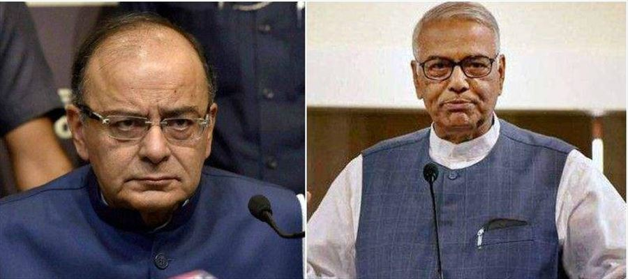 Yashwant Sinha criticized Jaitley for being dismayed with the role of the GST Council