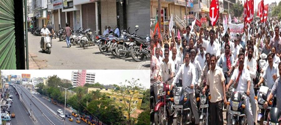 APSRTC suspended bus services in view of agitations