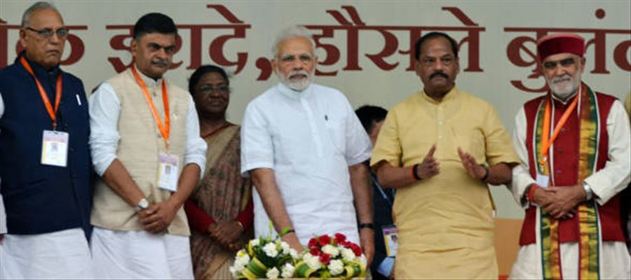 PM Narendra Modi laid foundation for project worth Rs.27000 Crore in Jharkhand