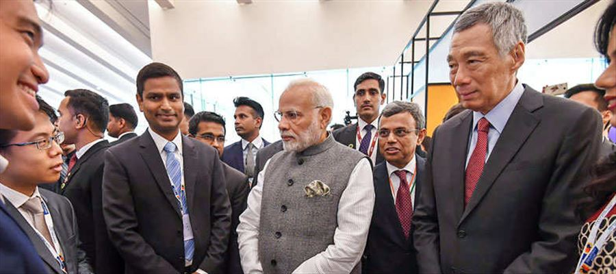 PM Modi launched India's BHIM, RuPay and SBI app in Singapore