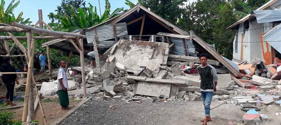 Shallow 6.4-magnitude quake struck Indonesian island of Lombok