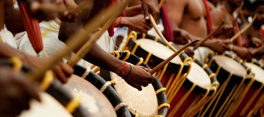 Kerala Drummers back to play Music after Floods
