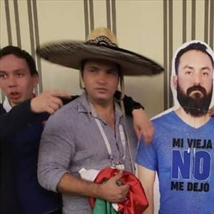 Wife doesn't allow Husband to watch World Cup Football - His Friends carry his Cardboard Cut-Out to 'All Games'
