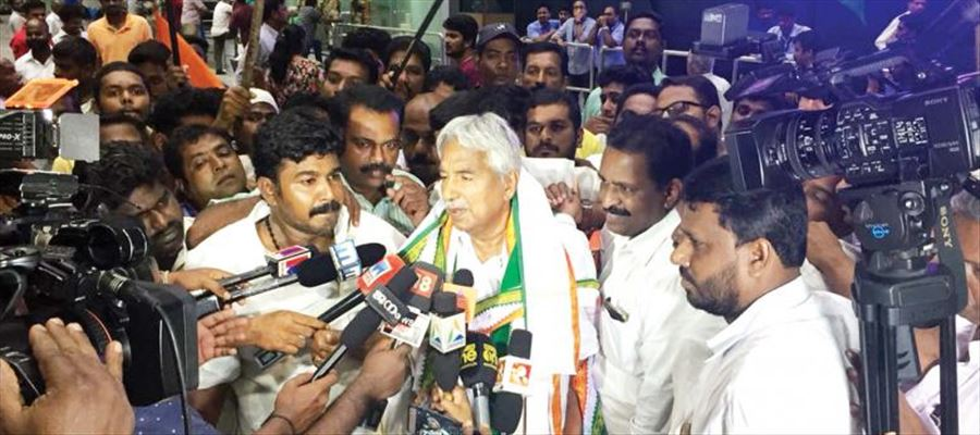 Chandy, comes to AP as Congress workers cheer up