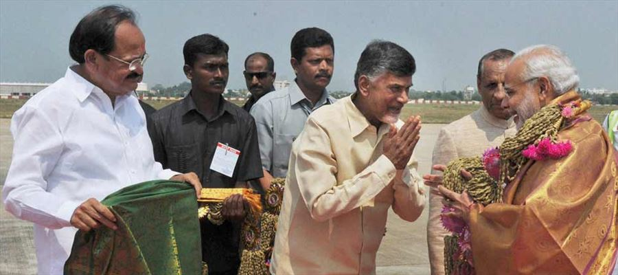 Naidu bowed and melted before Modi