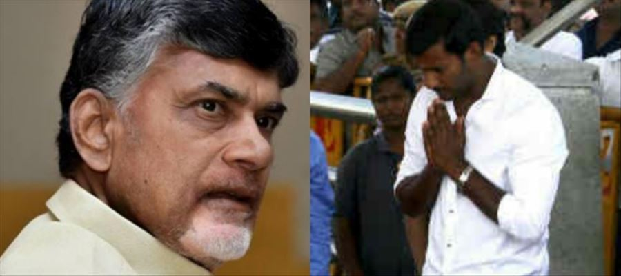 Is Mr.Chandrababu behind Vishal? Is that why Vishal contests independently in RK Nagar elections?