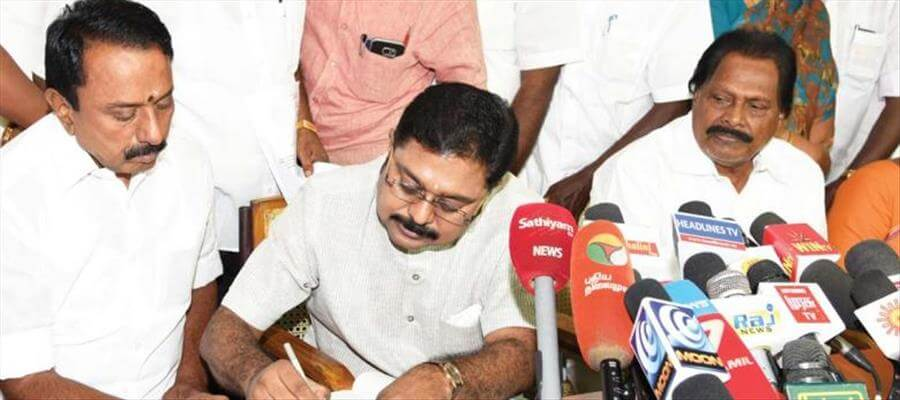 TTV Dinakaran says he will not contest in RK Nagar byelection