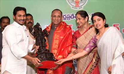 Farewell given to ESL Narasimhan by AP CM Jagan