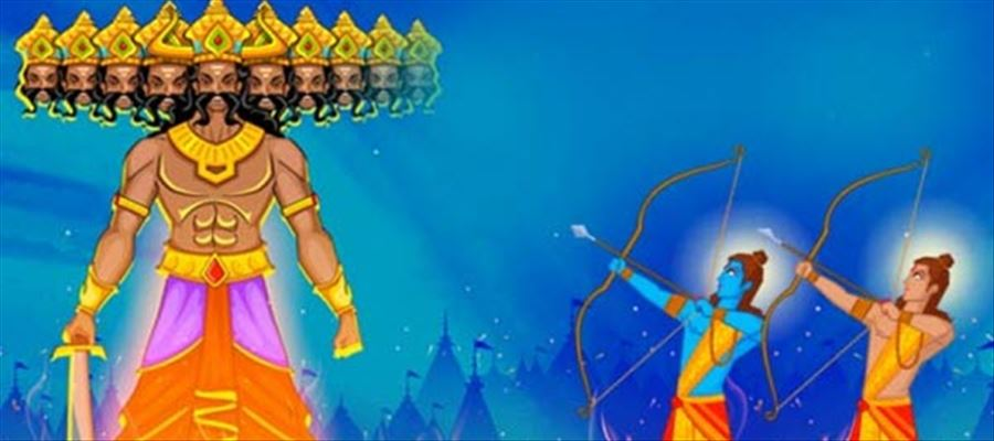 The story of Rama's part in Dussehra!