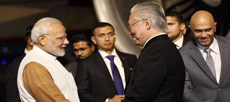 PM Modi on a five day trip to three nation tour of Southeast Asia