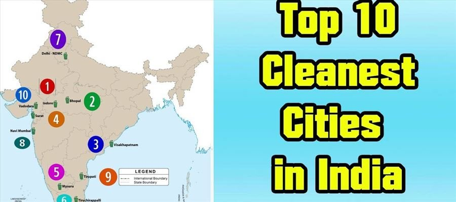 Survey of Top 10 Cleanest Cities in India