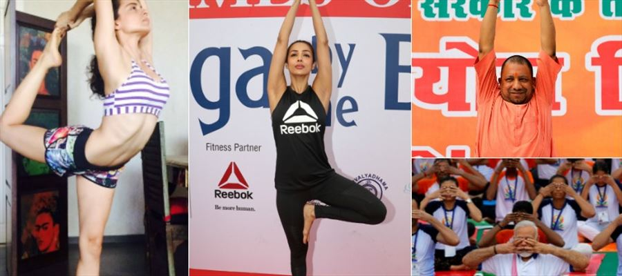 Indian iconic Celebrities do Yoga for Good Health